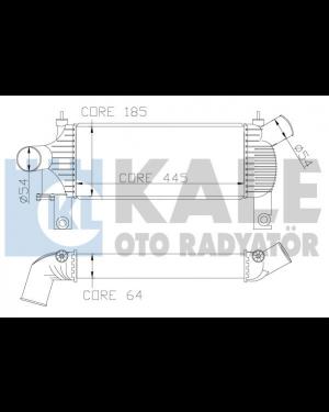 Nıssan Navara 2,5 Dcı 05>Intercoller Radyator 14461-EB360