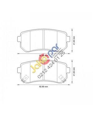 Hyundai İ30 Arka Fren Balatası 2008-2012