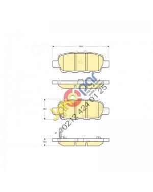 Nissan Xtrail Arka Fren Balatası 2000-