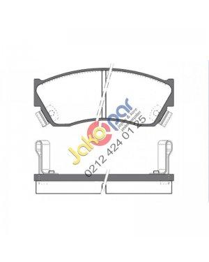 Tata İndigo İndica Turbosuz Boy 107.30mm Ön Fren Balatası