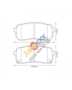 Hyundai ix55 Arka Fren Balatası 2011-2012
