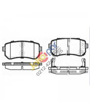Hyundai I20 Arka Fren Balatası 2008-2012