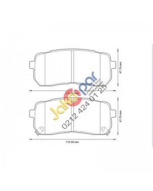 Hyundai Starex- H1 Arka Fren Balatası 2008-2012