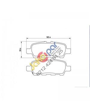 Nissan juke Arka Fren Balatası 2011-2013