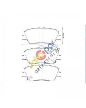 Hyundai Santafe Arka Fren Balatası 2011-2012